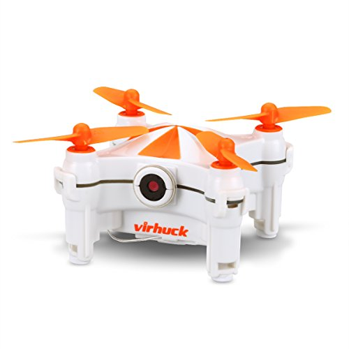 Virhuck V-3 Mini FPV Drone with Camera, 2.4GHz Wifi Quadcopter with Live Video, Optical Flow Sensor | Dance Programming | Selfie/Trajectory Mode | Altitude Hold | 3D Flips, Orange Review