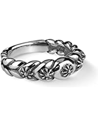 Sterling Silver Concha Style Band Ring
