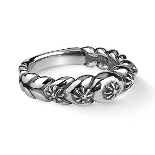 (American West Sterling Silver Concha Style Band Ring- Size 9 - Classics Collection)