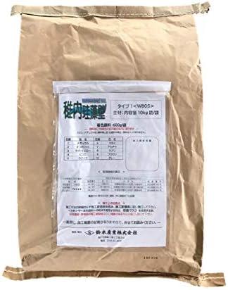 鈴木産業 稚内珪藻頁岩 稚内珪藻壁 タイプ1 W80S No.2 オフホワイト 顔料有 10kg 1袋