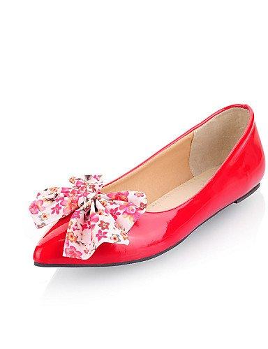 charol fiesta mujer talón cn37 vestido uk4 eu37 casual Flats us6 royal plano negro tarde Toe punta PDX rojo de boda de 7 zapatos 5 y 5 5 blue Pqwtxnp