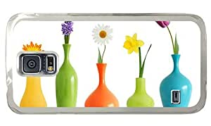 Hipster Samsung Galaxy S5 Case indestructible Colorful Flowers Vases PC Transparent for Samsung S5
