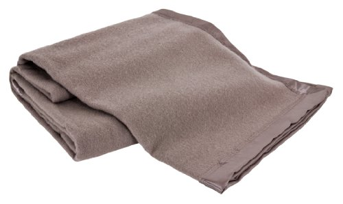 Creswick All-Natural 100-Percent Australian Merino Wool Machine Washable Oversized Blanket, Full/Queen, Flax