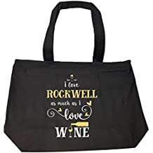 I Love Rockwell As Much As I Love Wine Gift For Her - Tote Bag With Zip