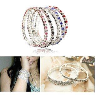 The new fashion sparkling diamond single-row stretch bracelet mix and match jewelry diamond jewelry Korean women (Sparkling Bracelet Diamonds)