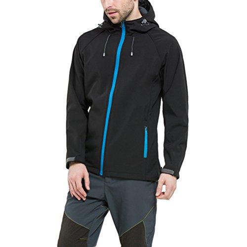 Coat Black Zhuhaitf Outdoor Men Shell Bello Sport Soft Windproof Winter Hooded qwwHPIv