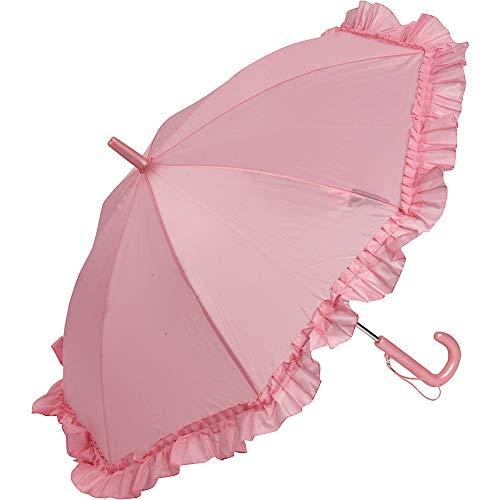 (Galleria Kid's Ruffle Umbrella - Pink)
