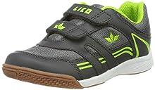 Lico Active Indoor Boy V, Zapatillas de Deporte Interior para Niños, Gris (Grau/Lemon Grau/Lemon), 33 EU