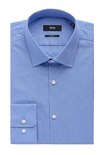 Hugo Boss Nailhead Cotton Dress Shirt, Sharp Fit Marley US (Light Blue, 15.5 x 34/35)