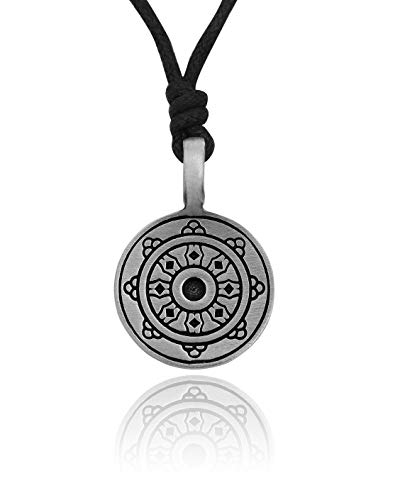(Norwegian Viking Shield Silver Pewter Charm Necklace Pendant Jewelry )