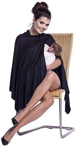 Zeta Ville - Premamá top de lactancia poncho chal amamantamiento - mujer - 967c Negro