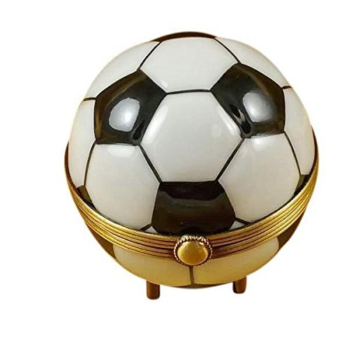 SOCCER BALL - LIMOGES BOX AUTHENTIC PORCELAIN FIGURINE FROM FRANCE by French Limoges Boxes Boutique