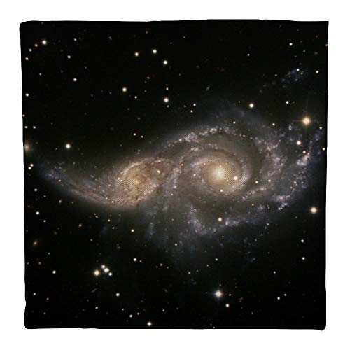 PADIDA Pillow Case, NGC Spiral Galaxy Light Year Flax Square Throw Flax Pillow Case Decorative Cushion Pillow Cover 45cmx45cm/18 -