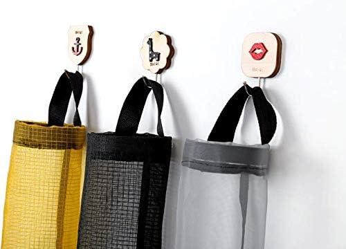 Blanco Soporte de bolsa de pl/ástico de supermercado dispensador de bolsa de pl/ástico montado en la pared Bolsas de basura de basura Almacenamiento Bo