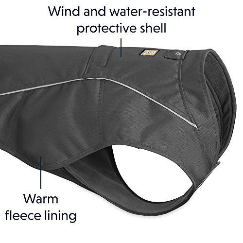 RUFFWEAR - Overcoat Fleece Lined Water Resistant Cold Weather Jacket for Dogs, Twilight Gray, Small by RUFFWEAR (Image #3)