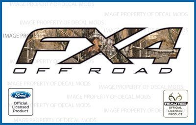 Ford F250 F350 F450 FX4 Off Road Realtree AP Camo / Camouflage Decals Truck Stickers - AP (2012 - 2016) [set of 2] (Truck Camo Decals)