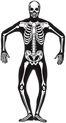 Smiffys Smiffys-24618M Halloween Disfraz de Esqueleto Segunda ...