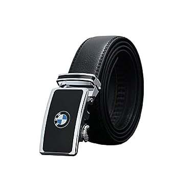 BMW design Black Leather Belt For Men