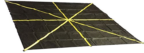 18 Oz Black Vinyl Polyester - Mytee Products Snow Removal Tarps Snow Tarp Demo 12' x 20' 18 oz Vinyl w/Webbing Loop 10,000 lbs