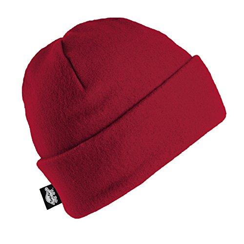 Turtle Fur Original Fleece The Hat, Heavyweight Fleece Watch Cap Beanie, Red - Red Winter Beanie