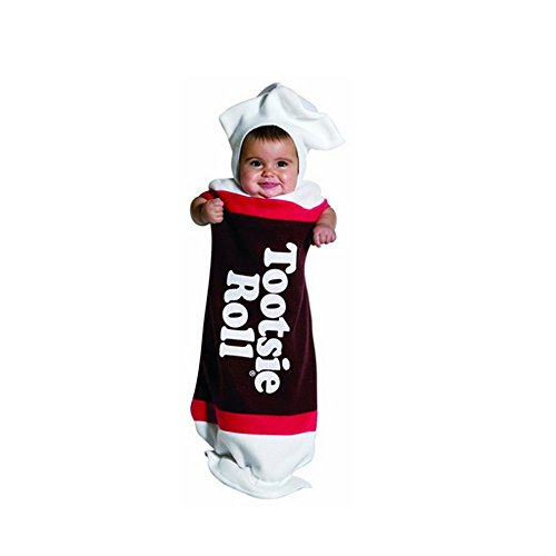 Tootsie Roll Costume Infant (Tootsie Roll Bunting Baby Infant Costume - Newborn)