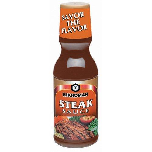 Kikkoman Steak Sauce, 11.75-Ounce Bottle (Pack of 3) Blended Steak Sauce