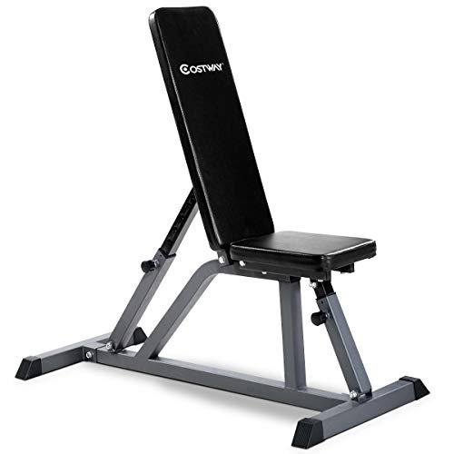 Goplus Folding Sit Up Bench Adjustable AB Incline Flat Weight Bench