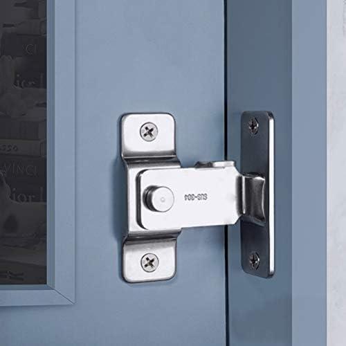 DINGCHI Cerrojo de seguridad giratorio para puertas corredizas, Pestillo de puerta abatible, 90 grados de servicio pesado Barra de barra de acero inoxidable Cierres de seguridad Cerradura de puerta: Amazon.es: Bricolaje y