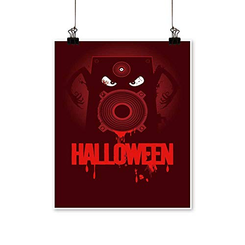 Modern Painting Halloween Party Design with Wicked Bloody Speaker,rasterized Version. Bedroom Office Wall Art Home,32
