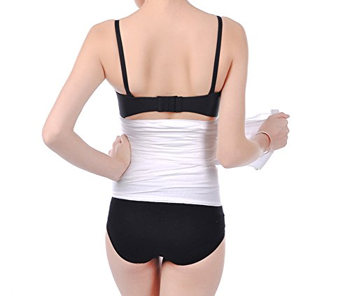 EUBUY One Roll 100% Cotton Staylace Postpartum Double Gauze Corset Belly Band Bandage Girdle - Size L Total Lenght 120 CM/47.2 Inch,Width 18CM/7 Inch - Ultra Breathable and Comfortable Post Postnatal After Childbirth Belly Band Tummy Waist Wrap for Women and Maternity