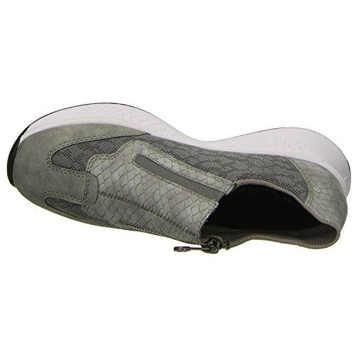 Rieker Damen N5653 Sportschoen Grijs (cement / Stof)