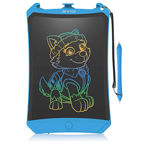 WOBEECO LCD Writing Tablet, 2019 Upgraded Colorful Screen 8.5 Inch Electronic Writing Board Doodle and Scribble Board Magnetic Memo Notes Comes with 1 Lanyard for Kid & Adults