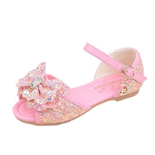 mit Schuhe Hellrosa Maedchen Schmetterling Ballerina Prinzessin Kinder HBOS qFaw11