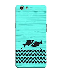 ColorKing OPPO F1S Case Shell Cover - Fishes Multi Color