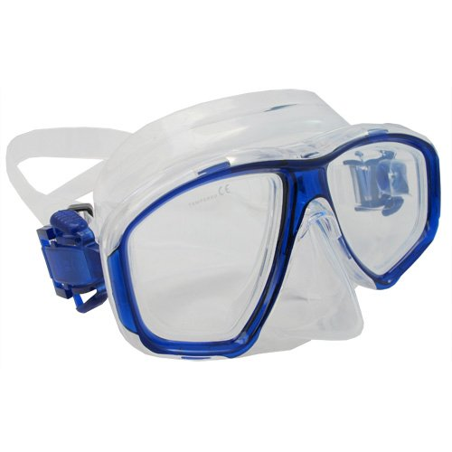 Scuba Choice Scuba Choice Blue Diving Dive Snorkel Mask Nearsighted Prescription RX Optical Corrective Lenses, -3.0