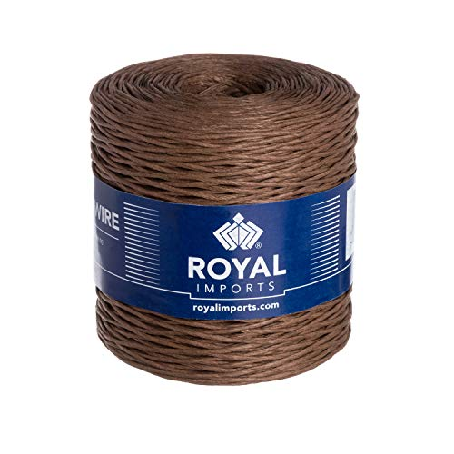 - Brown Floral Bind Wire Wrap Twine, Paper Covered Waterproof Rustic Vine for Flower Bouquets 26 Gauge (673 Ft) by Royal Imports