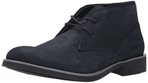 CK Jeans Men's Marston Suede/Gross Grain Boot, Midnight, 12 M US by Calvin Klein