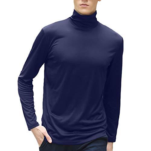 shirt T cotone Felpa Slim in modal manica Felpa da blu lunga Fit uomo fit e in slim mercerizzato Allthemen FznpwvZq