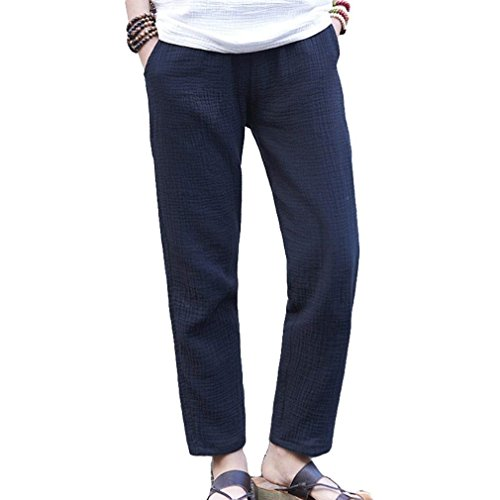 Taille Elastische Confortable Temps Femme Assez Couleur Pantalon Lin Solide Libre Doux 2 Jeune D'été Couleur Femmes Mode En Élégante Large ZIEqIt5
