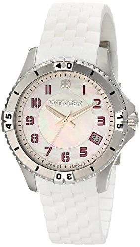 Wenger Women's 0121.103 Analog Display Swiss Quartz White Watch