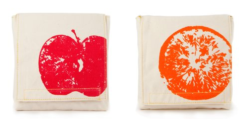 Fluf APPLES and ORANGES Snack Pack, Set of 2