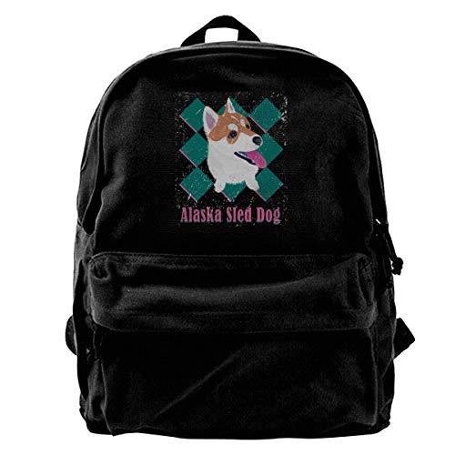 Wons Alaska Sled Dog Holiday Knight Limited Edition Sackpack Drawstring Backpack Sport Gym Bag Yoga Runner