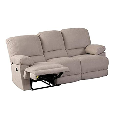 Amazon.com: CorLiving LZY-362-S Lea Collection Reclining ...