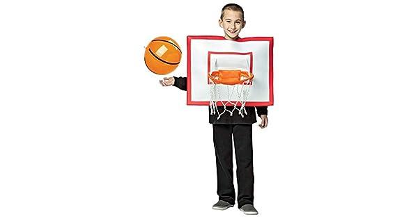 Amazon.com: Canasta de baloncesto disfraz para niños, Blanco ...