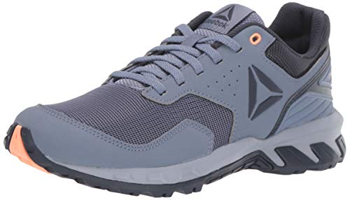 Reebok Women's Ridgerider Trail 4.0 Walking Shoe, Denim/Indigo/Navy/Sunglow, 7.5 M US