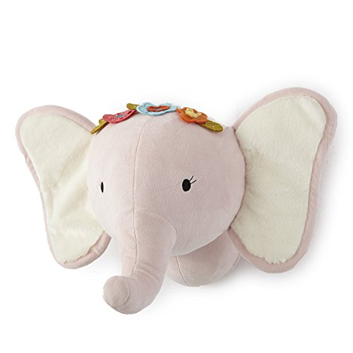 - Levtex Home Baby Pink Elephant Head Wall Decor