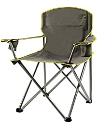 quik chair heavy duty folding camp chair grey