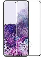 شاشة حماية منحنية زجاج لاصقة لسامسونج جالاكسي S20 الترا - اسود