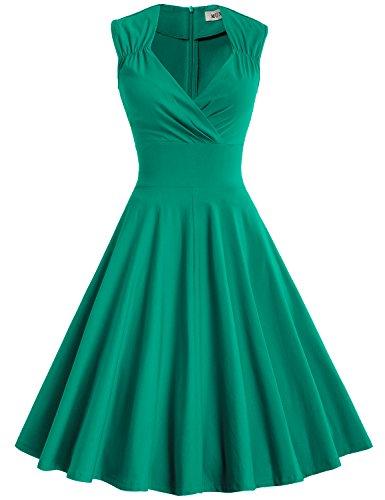 60s green dress - 5