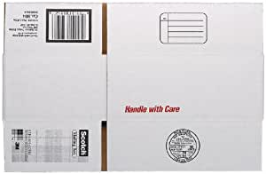 Scotch Mailing, Moving, and Storage Box, 9-1/2 Inches x 6 Inches x 3-3/4 Inches, 12-Pack (8004)
